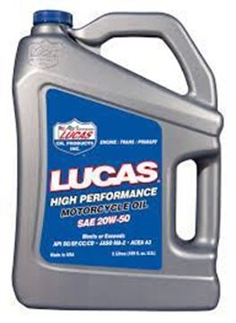 Picture of Lucas High Performance Motorcycle Oil SAE 20W-50